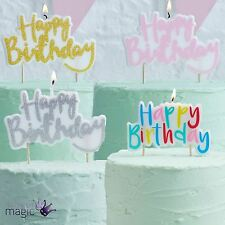 Ginger Ray Happy Birthday Candle Party Cake Topper Decoration Pink Gold Rainbow