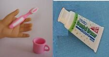 Pink Toothbrush Toothpaste Set for Doll Accessory American Girl & Wellie Wishers