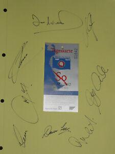 Autogramme von berühmten Golfspielern von der SAP Open 2002