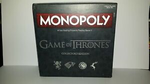 2017 Collector's Edition Game Of Thrones Monopoly