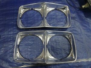 1972  Pontiac Bonneville Catalina Grandville HEADLIGHT DOORS PAIR