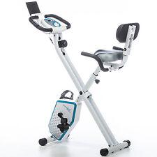 skandika Foldaway X-1000 PLUS bicicleta estática plegable Bluetooth blanca nueva