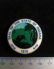 Seal Of INDIANA. Pin Badge Exclusive Design.Limited Series.Litho. Metal
