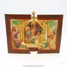 The Shackman Collection-Victorian Style Fold-Out Nativity Scene Christmas Card