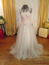 NWT Silver Blue Tulle beads crystal Wedding Dress Pageant Prom Mom Bride-2/4