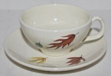 VTG Franciscan Autumn Leaves Earthenware Cup and Saucer Set - EUC