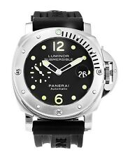 PAM00024 PANERAI Luminor Submersible Men's Watch 44mm Black Rubber Strap NEW