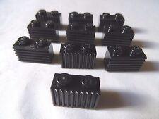 10 x Lego part 2412 gris clair Grille de rechange pièce authentique Bundle