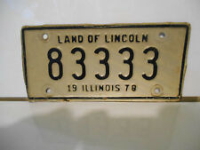 plaque immatriculation moto usa 1978 illinois license plate old  motorcycle