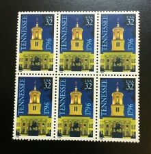 Scott  3070  Tennessee Statehood. Block of 6 32 cent US postage stamps.