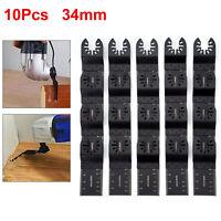 10Pcs Oscillating Multi Tool Saw Blades 34mm For Fein Multimaster Dewalt Boschs