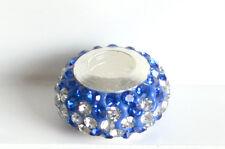 Stunning Blue Rhinestone Glass Bead Charm fit European Bracelet Necklace