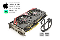  Radeon R9 280 (HD7950) 3GB GPU for Apple Mac Pro w/EFI, Boot screen, METAL, 4K