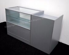 Grey Glass Shop counters  Metallica,FREE DELIVERY, TOP QUALITY, 2 UNITS