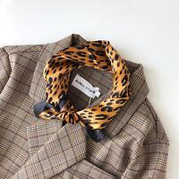 100% Women's Fashion Chic Small Scarf Bandana Leopard Print Handband Tied 53cm