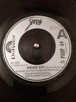 "Sham 69 – Hersham Boys Vinyl 7"" Single UK POSP 64 1979"