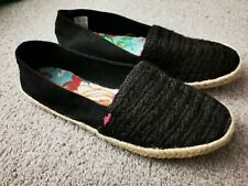 New Womens Rocket Dog, black slip on flat shoes, espadrilles UK Size 7