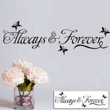 Always And Forever Decal Butterfly Removable Bedroom Decor Vinyl Wall Sticker
