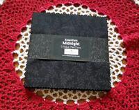 "Wilmington Prints Midnight Essentials Black Tone on Tone no dups 5"" charm pack"