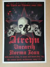 Atreyu at The Corner Melbourne 2005 Concert Poster Art Joe Whyte First Edition