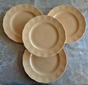 Vintage Art Deco Grindley England Dinner Plates x 4 *Yellow Laburnum Petal