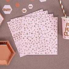 Rose Gold And Pink Napkins x 16 - Wedding / Party / Baby Shower