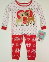 Rudolph Love Girls' Christmas Santa Cotton Pajamas 2 PIECE - Long Sleeve + Pants