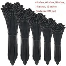 Zip Ties 500 Pcs Adjustable Durable Self Locking Black Nylon Zip Cable Ties