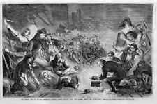 CHICAGO GREAT FIRE 1871 HISTORY HOMELESS CITIZENS TAKING REFUGE FROM THE FLAMES