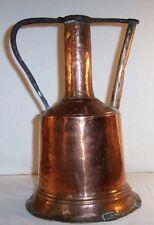 Vintage COPPER Garden Watering Can / Jug ; Primitive Handcrafted Gardening