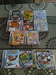 Lot 11 Jeux Game Boy Advance  Nintendo DS dont 8 Neuf sous blister.