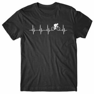Cool T-shirt HEARTBEAT CYCLING - funny Tee Shirt - novelty gift for men
