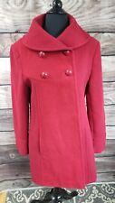 WOMEN'S ORVIS WOOL BLEND RED JACKET COAT SIZE 8