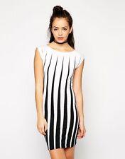 Damenkleider mit Wasserfall-Ausschnitt aus Baumwolle für Business-Anlässe