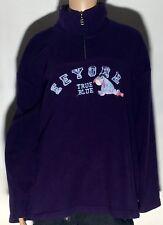 Eeyore Winnie The Pooh True Blue Walt Disney Womens XL 1/4 Zip Fleece Jacket