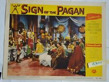 Sign of the Pagan Universal Pictures Palance 1954 Lobby Movie Card 54 of 491