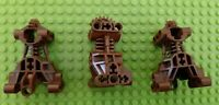 USED LEGO 3x Bionicle Body Torso Trunks Gearboxes Item No: 32489 all in BROWN