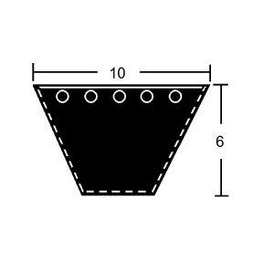 Keilriemen Profil Z/10 x 475