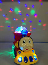 BUMP & GO TRAIN WITH FLASHING LIGHTS AND MUSIC SOUND TODDLER TOYS RED