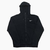 Nike Mini Embroidered Swoosh Full Zip Hoodie Hooded Sweatshirt Mens M 5620