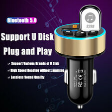 Universal Car MP3 Bluetooth Adapters LED Display Quick Charging For Phone/Ipad