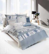 Kaeppel Linon Renforcé Bettwäsche 135x200cm 2 tlg. Intro Streifen Silber Blau