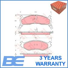 Chrysler Plymouth Front DISC BRAKE PAD SET OEM Heavy Duty Trw 4740776 GDB1158