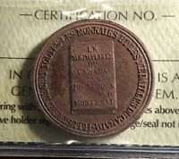 Canada Token Breton 585 - JOS. LEROUX M.D.  French. Ouvrage Honore - ICCS MS-62