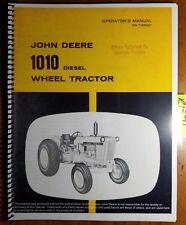 John Deere 1010 Diesel Wheel Tractor S/N -31000 Owner Operator Manual OM-T15505