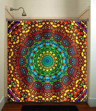church ceiling stained glass bohemian mandala shower curtain custom bathroom dec