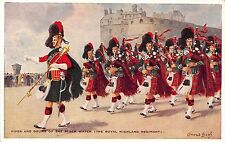 POSTCARD   MILITARY  BLACK WATCH   Pipes  and  Drums
