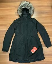The North Face Women's Transarctic Mama Down Parka w/Fur Black - Large NWT