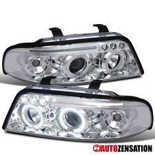 99-01 Audi A4 S4 B5 Chrome Clear LED DRL Halo Projector Headlights