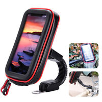 Universal Bicycle Motorcycle Cell Phone Holder Mobile Stand Support GPS Bag